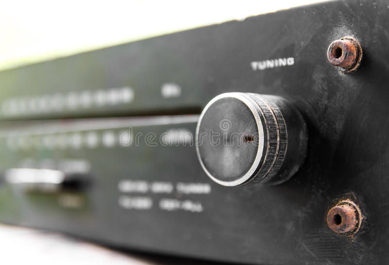 Close up the volume. With a rusty old bolt of antique radios stock images
