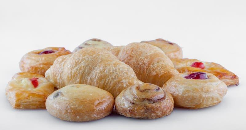 Close-up voor groep Franse bakkerijen royalty-vrije stock foto