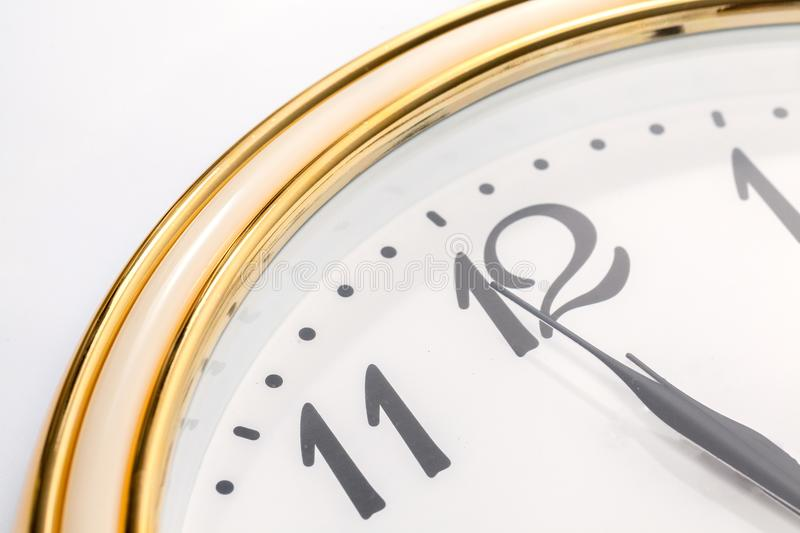 Wall clock and time is twelve royalty free stock photo