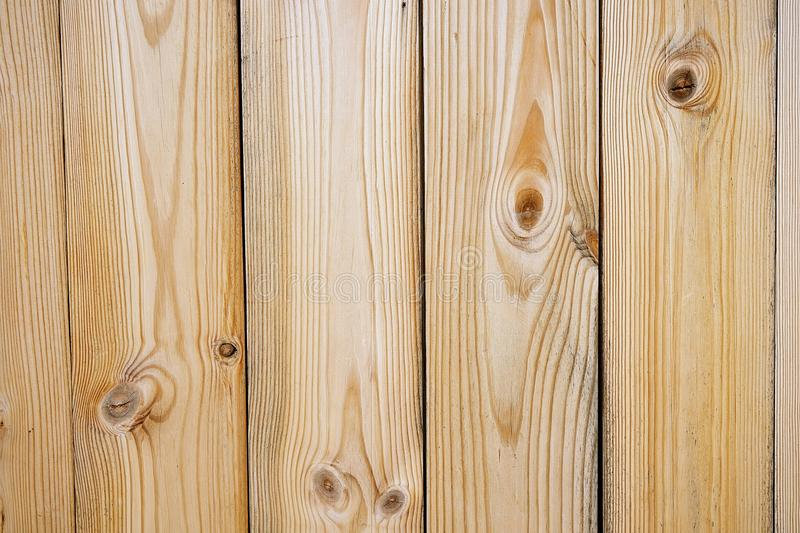 Close up of wall made of wooden planks, white pine planks stock images