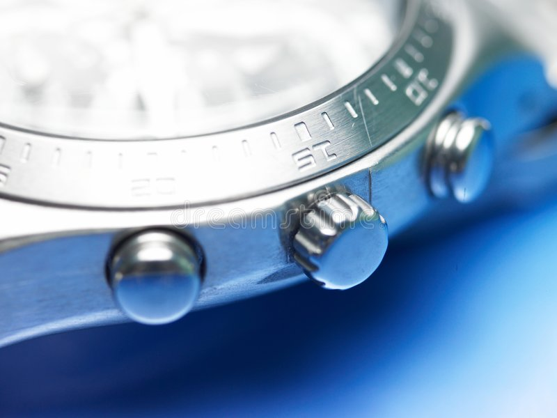 Close-up of a watch stock photo