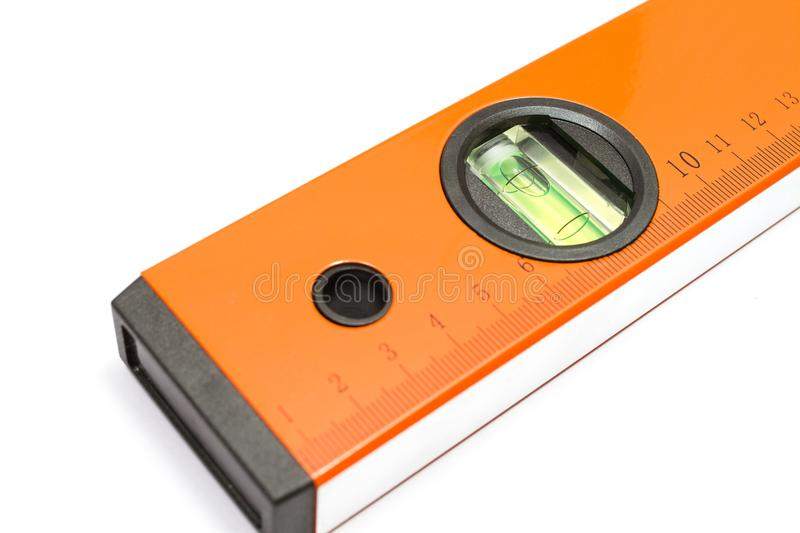 Close up water level ruler. royalty free stock photography