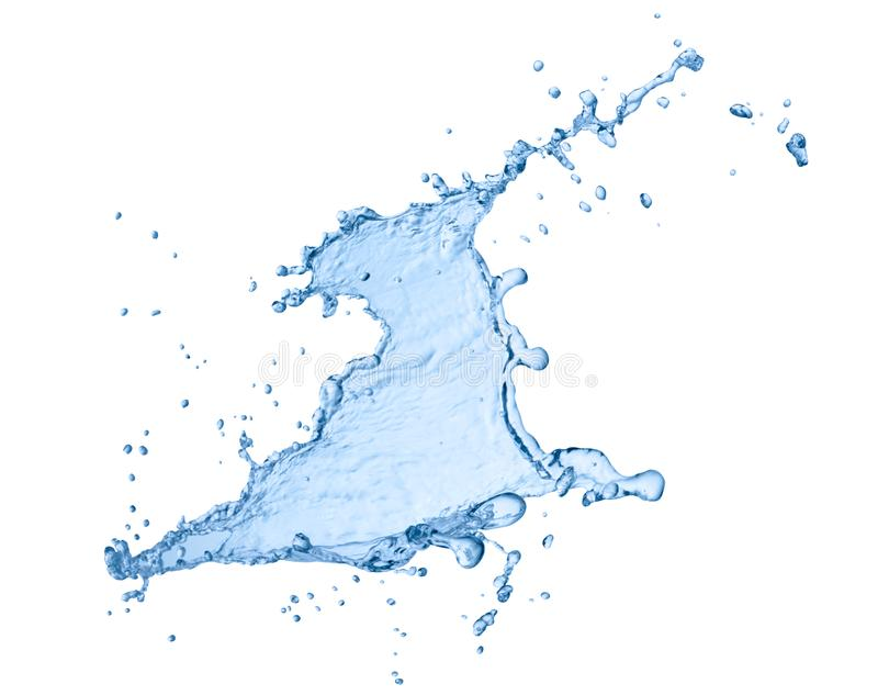 Water splash liquid. Close up of a water splash on white background vector illustration