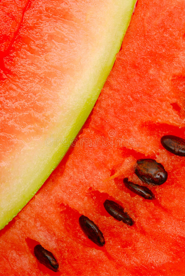 Close up of watermelon slices stock photo