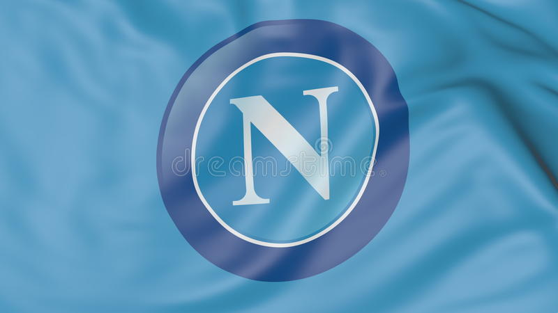 S S C Napoli: Close-up Of Waving Flag With S.S.C. Napoli Football Club