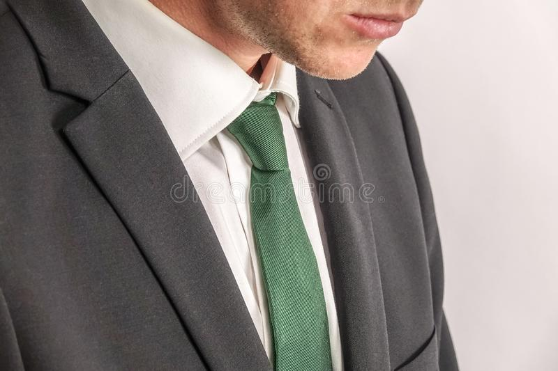Close up of well dressed businessman in black suit. royalty free stock photo