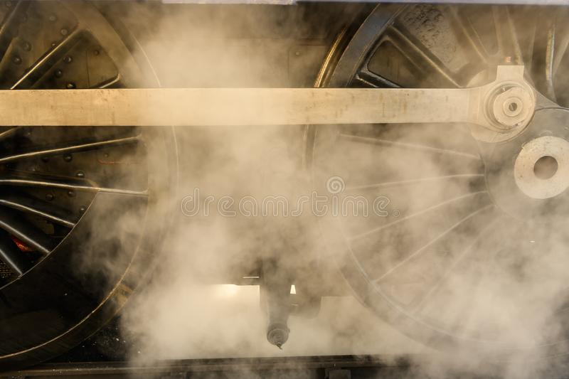 Historic Steam Engine detail royalty free stock photo