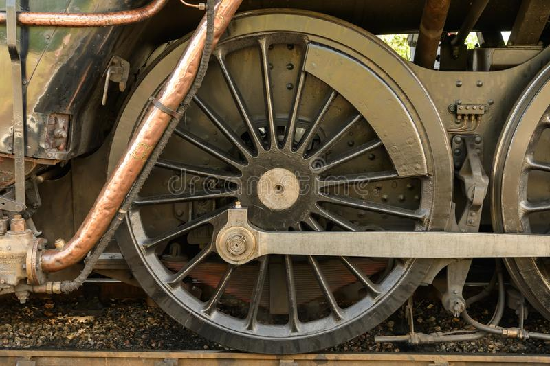 Historic Steam Engine detail stock images
