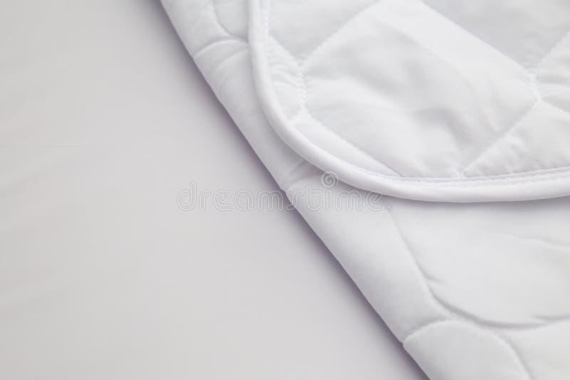 Close up of white mattress bedding pattern background stock photos