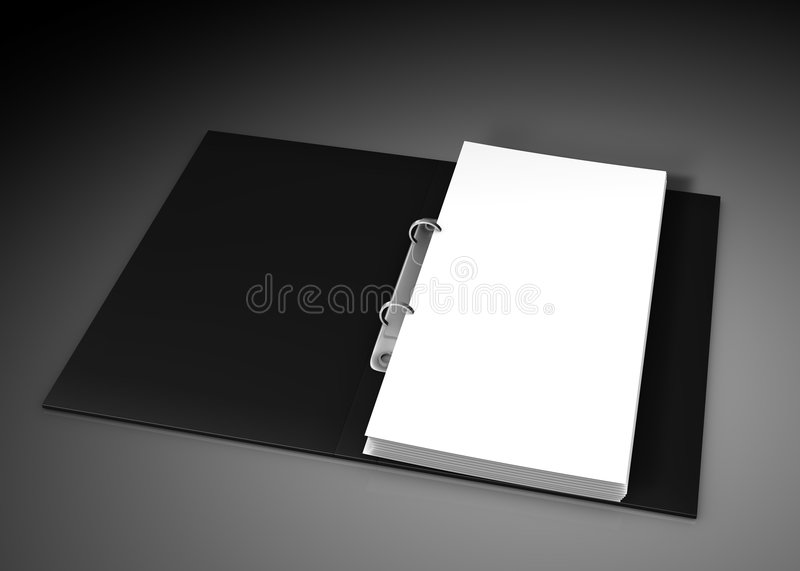 Close up of white note pad. Reminder on black background royalty free illustration