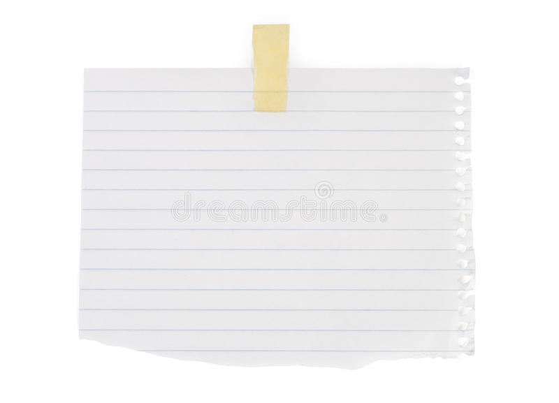Close up of a white note paper stock images