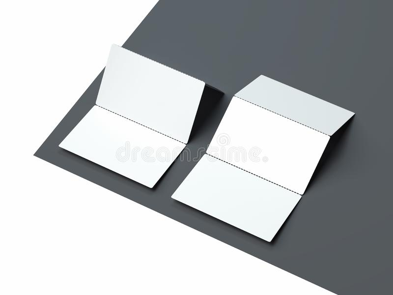 Close up of white business cards set on monochrome background, 3d rendering. Close up of white realistic business cards set on monochrome background, 3d stock illustration