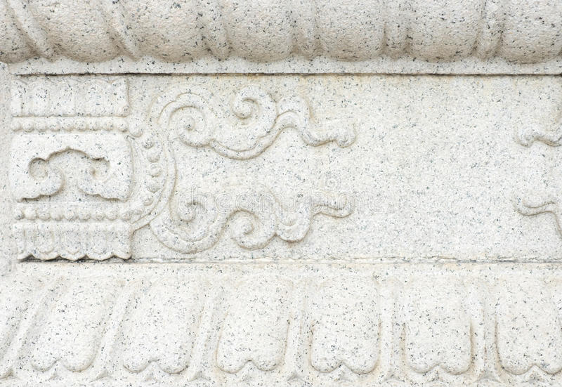 Close up white stone with carve texture background stock photo