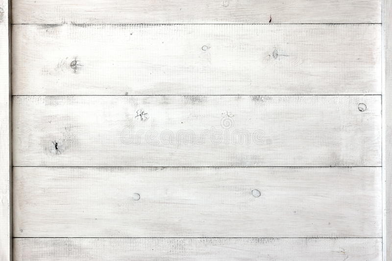 Close Up Of White Wood Planks Panel Background And Texture. White Wood Planks Panel Or Blank Signboard Or Empty Bulletin Board Or Vintage Notice Board stock photo