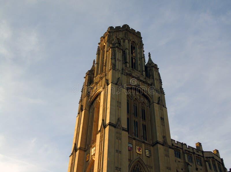 Wills Memorial Building, Bristol, United kingdom. Close up of Wills Memorial Tower at Bristol University stock photography