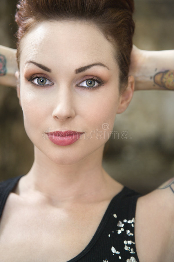 Close up of woman. royalty free stock image