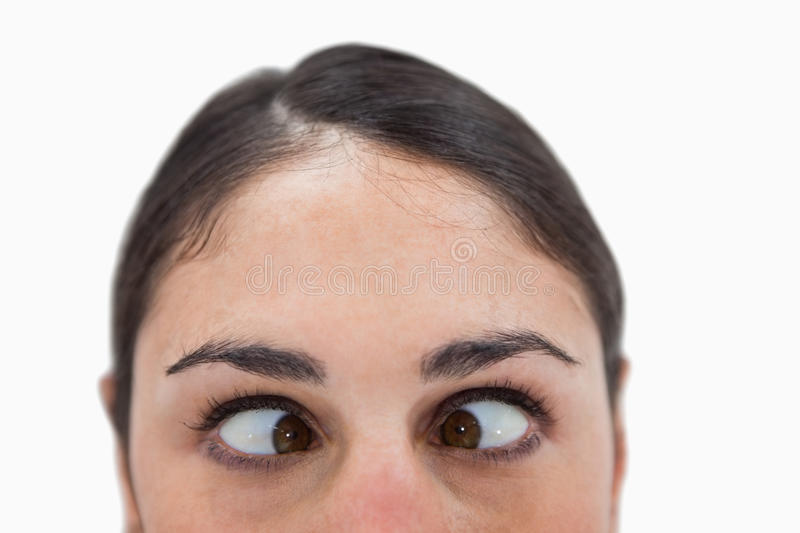 Close Up Of A Woman Cross-eyed Stock Photography