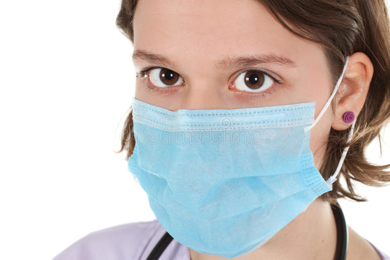 Close-up Of Woman Doctor With Mask Stock Images