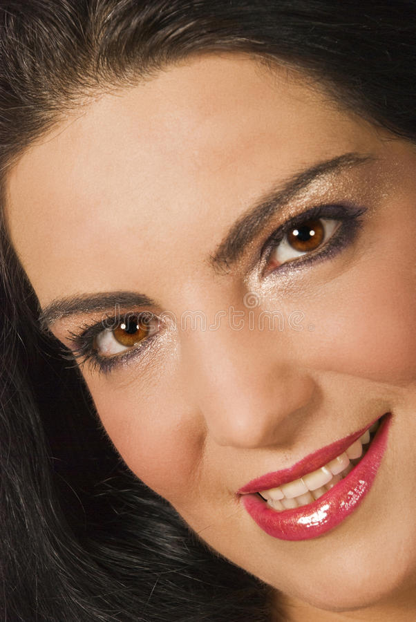 Download Close up woman face stock photo. Image of glamorous, detail - 10808892