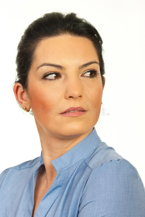 Download Close Up Of Woman Face Looking To A Side Stock Image - Image: 23946819
