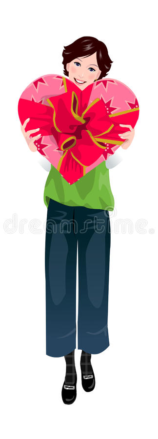 Download Close-up of woman stock vector. Image of background, flower - 30093006