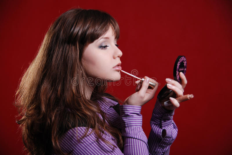 Download Close Up Of Woman Looking Into Mirror Stock Photo - Image: 20071542