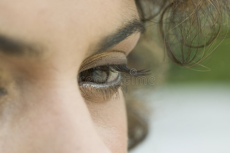 Download Close up of a woman's eye stock photo. Image of brown - 6334836