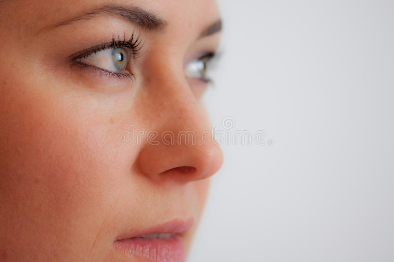 Close-up Of A Woman S Face Stock Photo