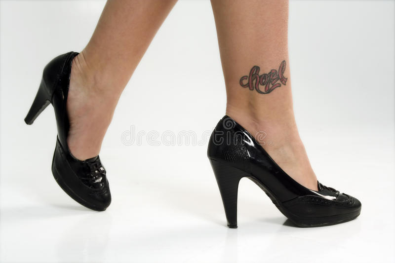 Download Close up of Woman's Feet stock photo. Image of black - 18699118