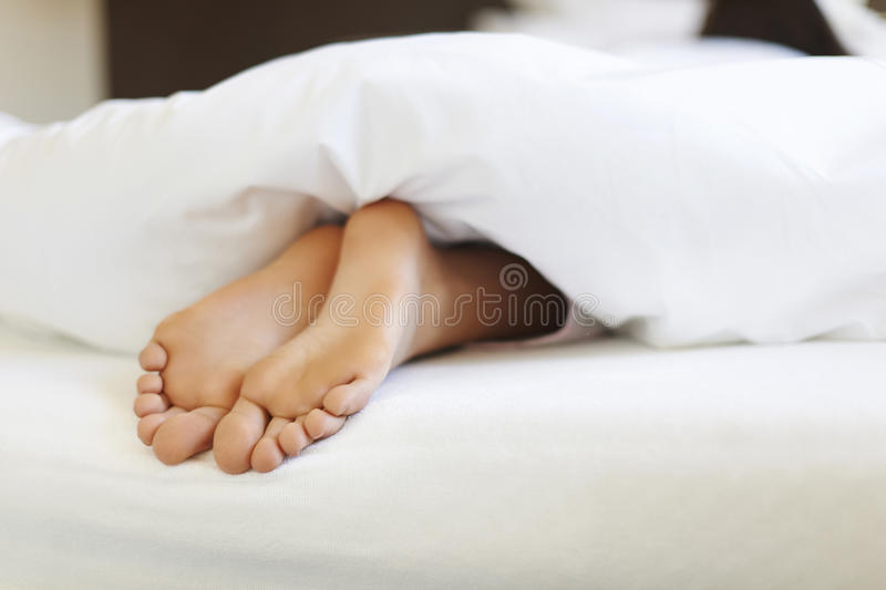 Close up of woman's feet stock images