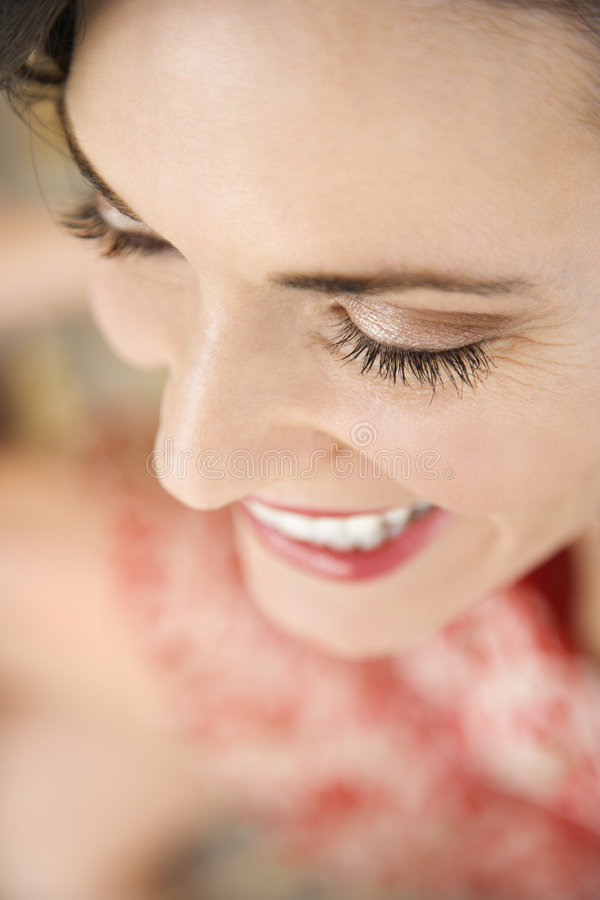 Close-up of woman smiling. royalty free stock photo