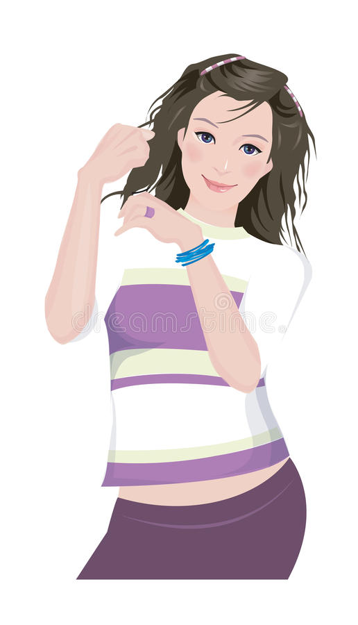 Download Close-up of woman stock vector. Illustration of illustrate - 30093009