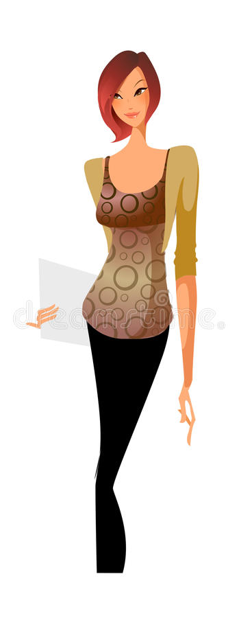 Close-up of woman. Is standing vector illustration