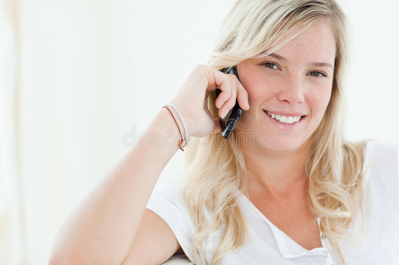 Download Close Up Of A Woman Talking On Her Phone Stock Photo - Image: 25335994
