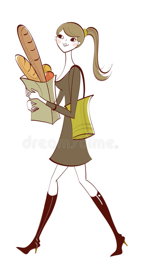 Download Close-up of woman stock vector. Illustration of drawing - 30675278