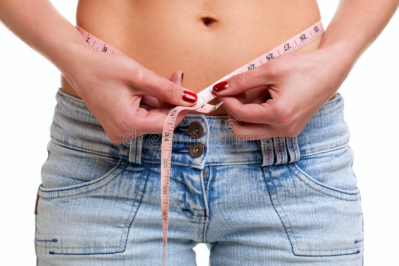 Download Close Up Of Womans Waist And Tape Measure Stock Image - Image of measure, nutrition: 10013351