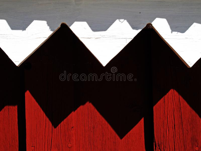 Close up wood facade for boathouse in Lycksele royalty free stock photo