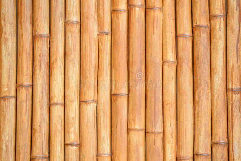 Bamboo stick pattern, building material background. Close up wood texture detail of abstract yellow-brown bamboo stick pattern, japanese building material for stock photos