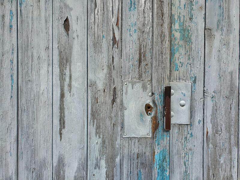 Close up of a wooden garage door royalty free stock photos