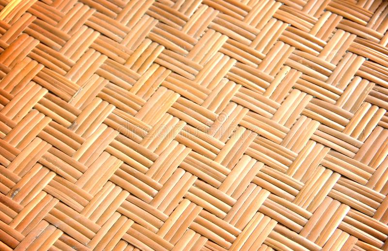 Wooden wicker texture stock photo