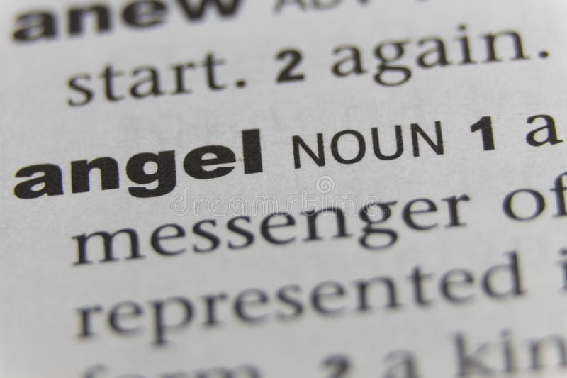 Close up of the word Angel.  stock images
