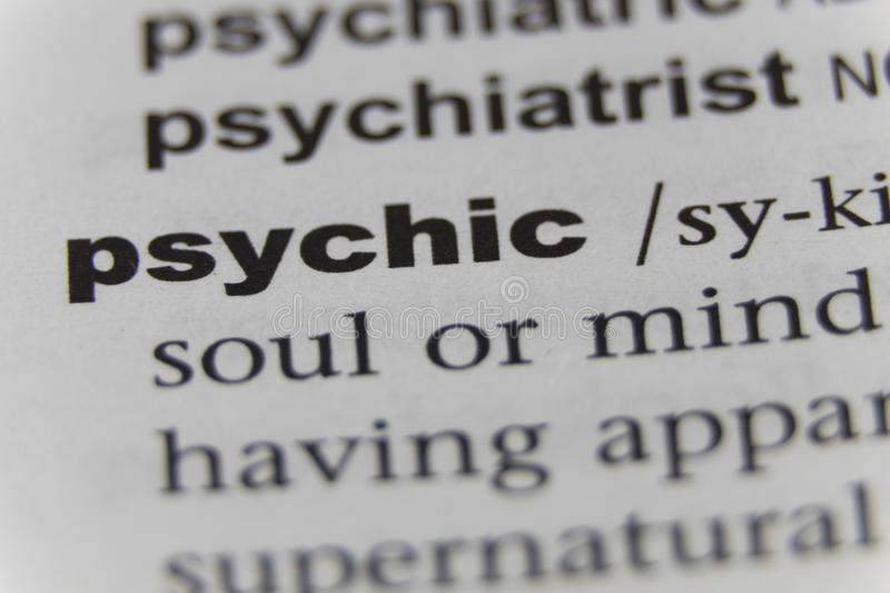 Close up of the word psychic royalty free stock images