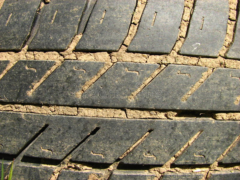 Download Close-up Of Worn And Muddy Tire Stock Image - Image: 19295507