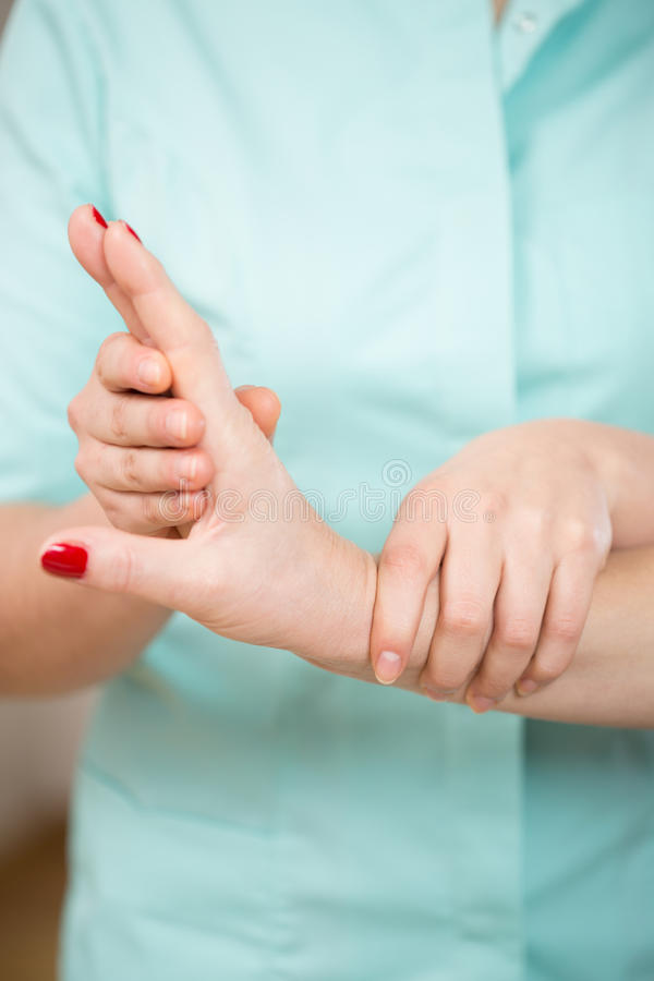 Close-up of wrist exercise stock photos