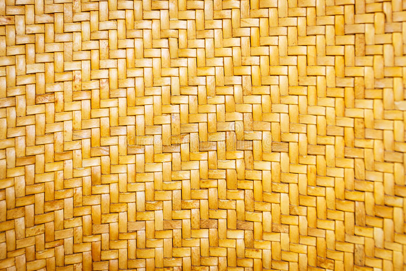 Close up yellow leather weave pattern texture. And background royalty free stock photos