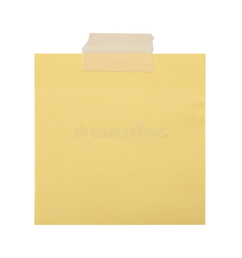 Download Close Up Of A Yellow Note Paper Stock Image - Image of brown, message: 39508201