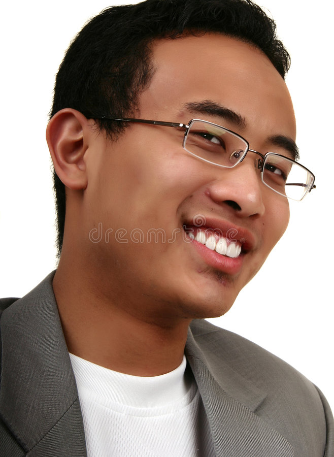 Close Up Young Asian Man With royalty free stock photography