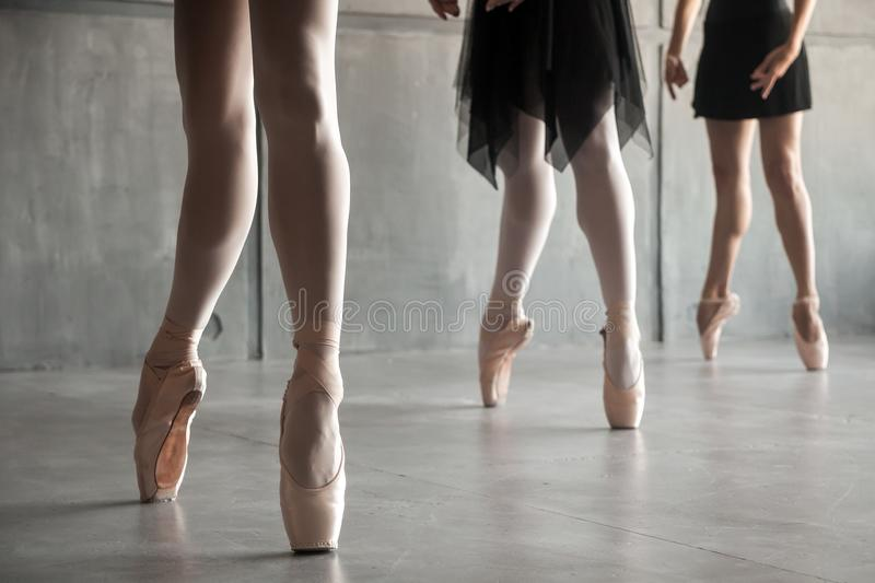 Close-up of a young ballet stock photo