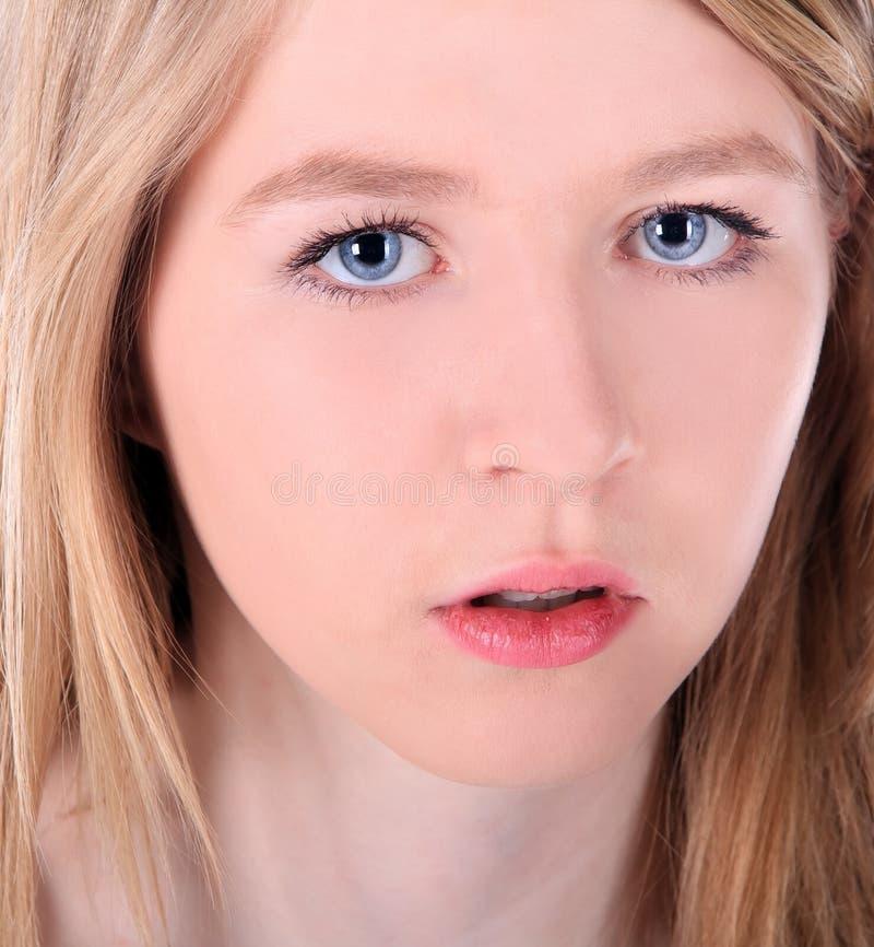 Close up of young beautiful woman royalty free stock photos