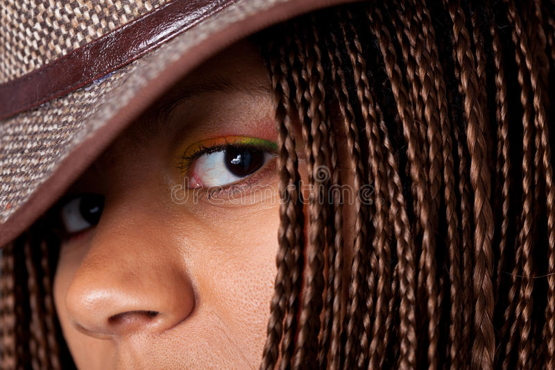 Black woman portrait royalty free stock photography